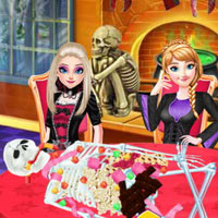Frozen Sister Halloween Food Cooking
